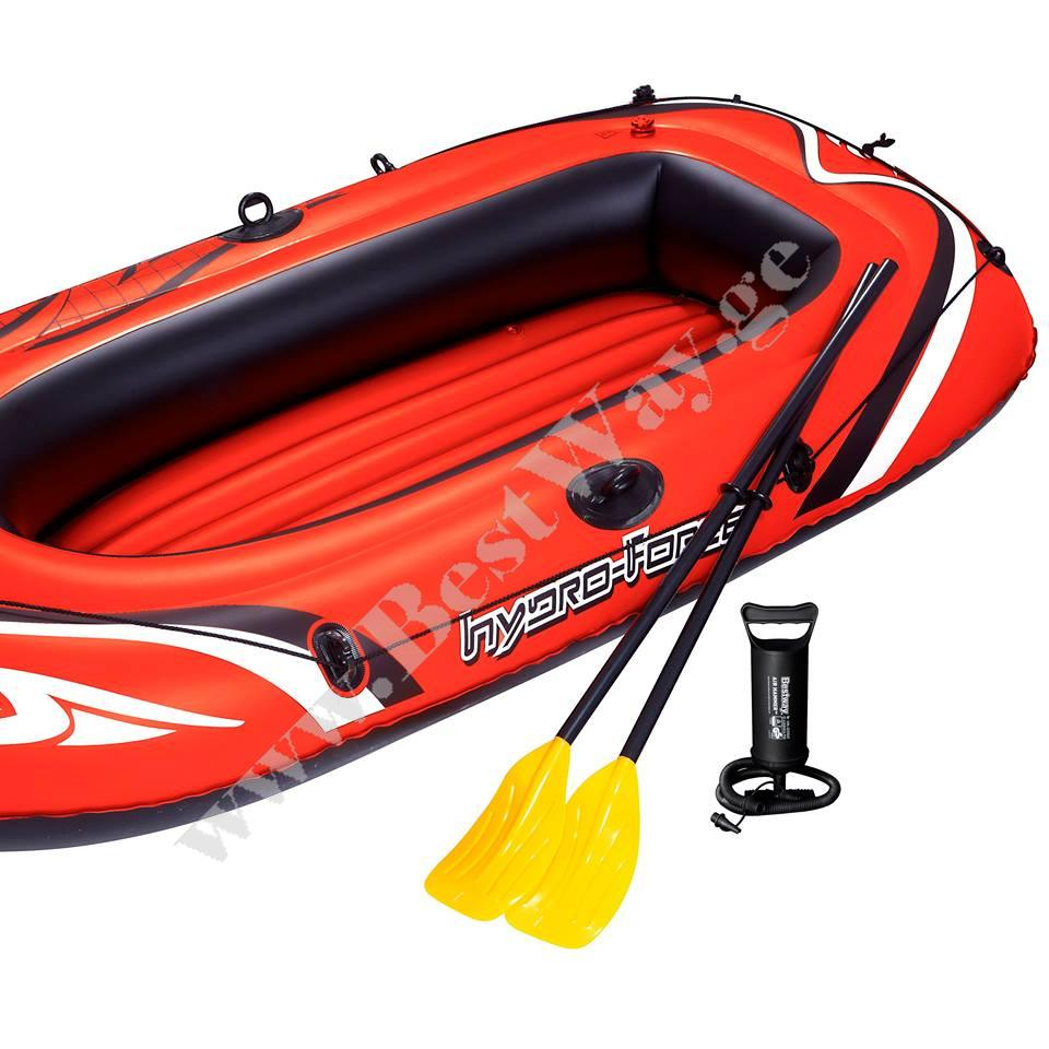 трехместная надувная лодка bestway 65044