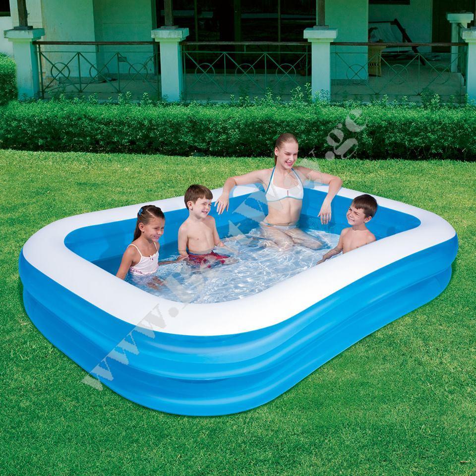გასაბერი აუზი BestWay 54006 Blue Rectangular Family Pool