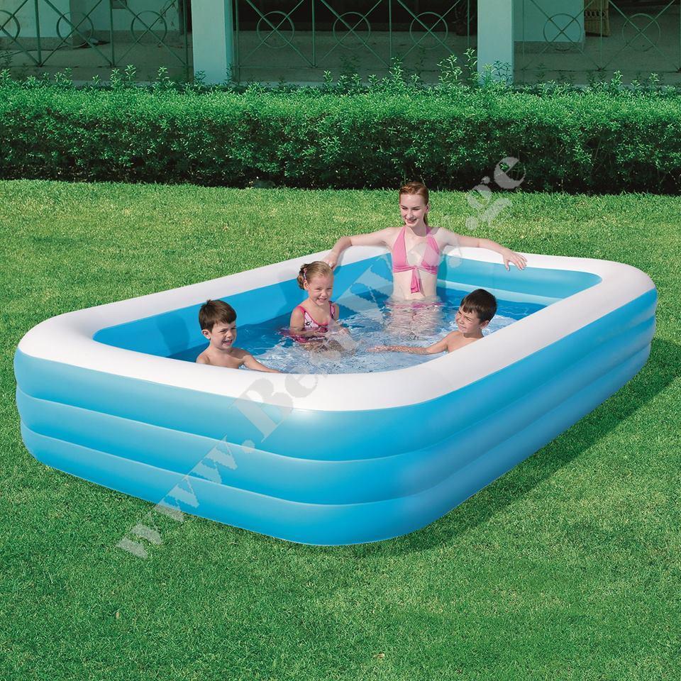 გასაბერი აუზი BestWay 54009 Deluxe Blue Rectangular Family Pool