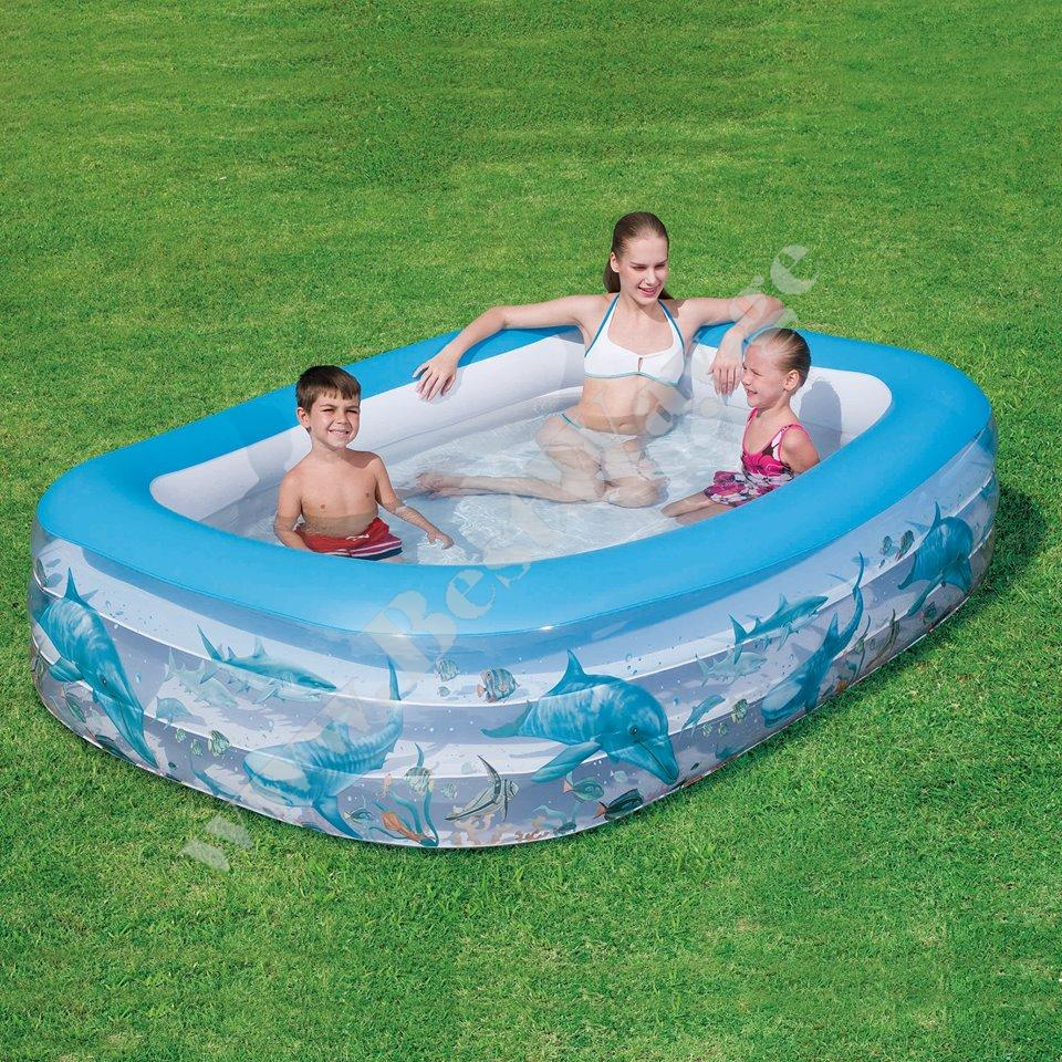 გასაბერი აუზი BestWay 54042 Deluxe Rectangular Family Pool