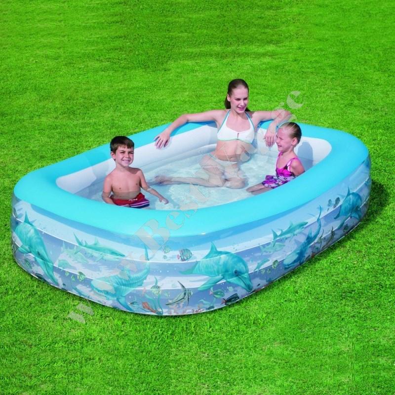 გასაბერი აუზი BestWay 54042 Deluxe Rectangular Family Pool