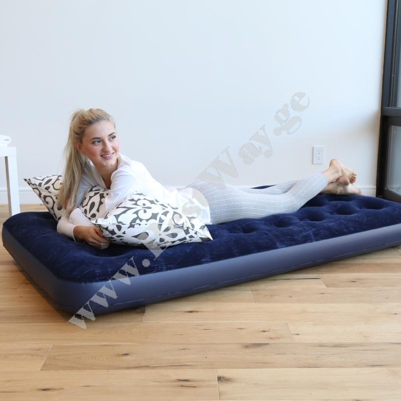 გასაბერი ლეიბი BestWay 67000  Flocked Air Bed(Single)