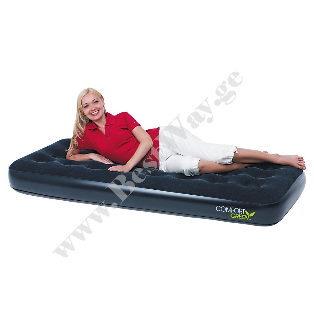 გასაბერი ლეიბი BestWay 67379  Comfort Green Flocked Air Bed(Single)