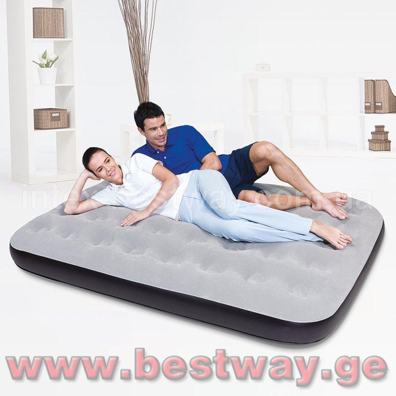 გასაბერი ლეიბი BestWay 67408   Flocked Air Bed(Double)