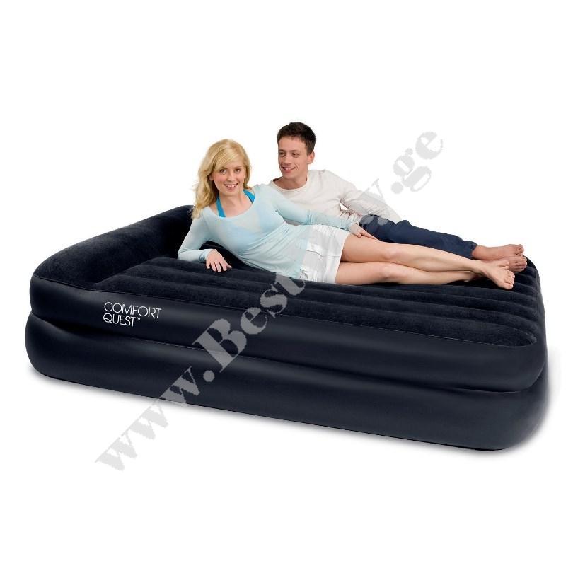 გასაბერი ლოგინი BestWay 67345  Premium Air Bed with Sidewinder - Ac Air Pump(Queen)