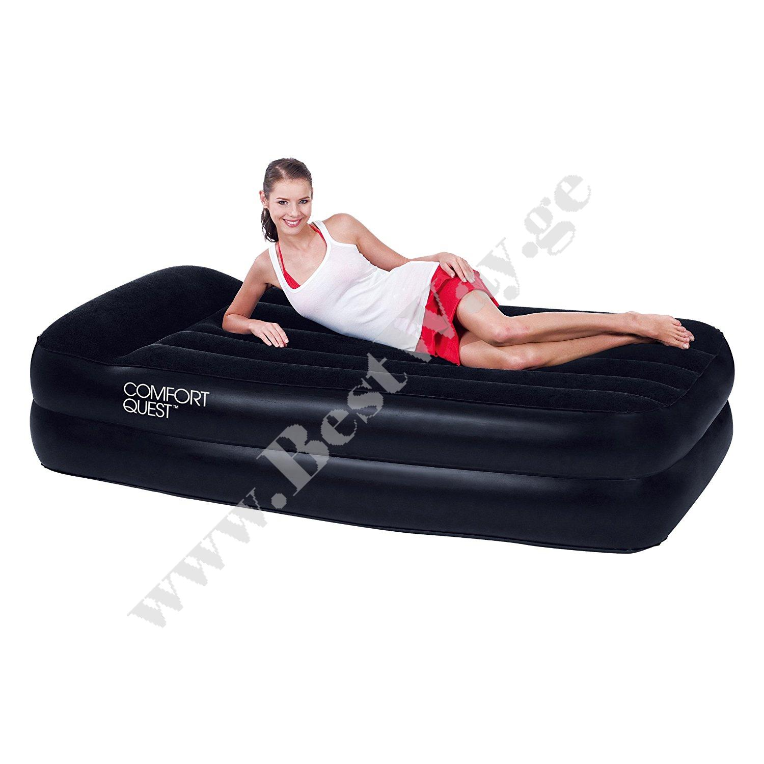 გასაბერი ლოგინი BestWay 67381  Premium Air Bed with Sidewinder- Ac Air Pump(Single)