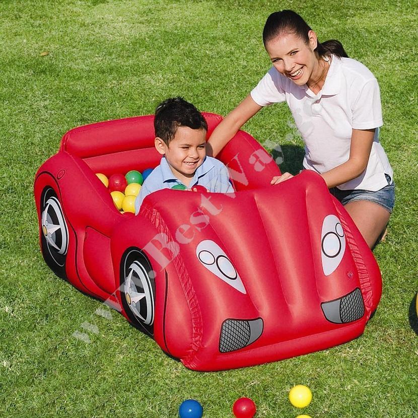 გასაბერი მანეჟი(მანქანა+50ფერადი ბურთი) BestWay 52159  Race Car and Game Ball Combo