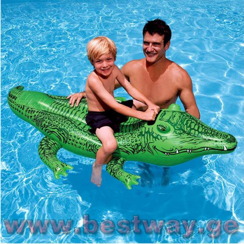 გასაბერი ნიანგი BestWay 41010 Crocodile Rider