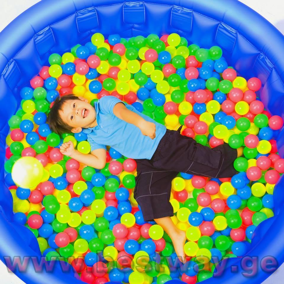 მშრალი აუზის ბურთები BestWay 52027  Splash & Play 100 Bouncing Balls