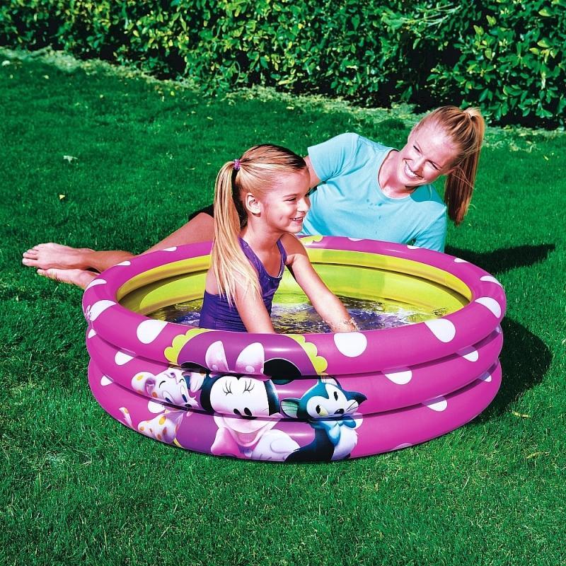 საბავშვო გასაბერი აუზი BestWay 91060  Disney Minne Mickey Mouse Inflatbale Pool For Kids