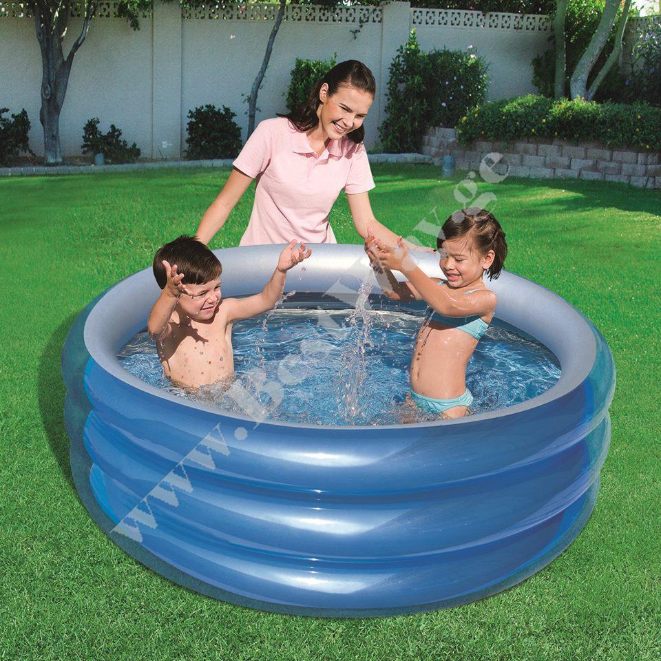 საბავშვო  გასაბერი აუზი BestWay 51041  Big Metallic 3-Ring Pool