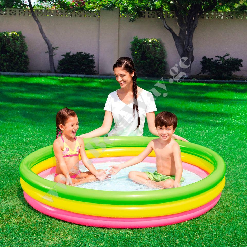 საბავშვო  გასაბერი აუზი BestWay 51103  Summer Set Pool