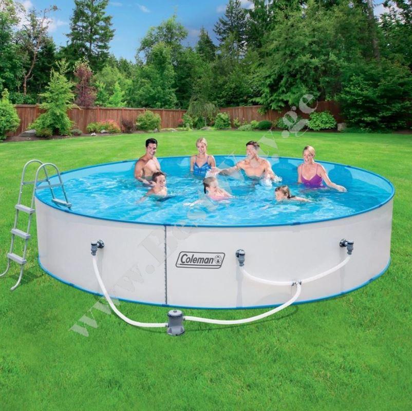 ფოლადის კარკასული აუზი BestWay 56377  Hydrium Splasher Pool Set