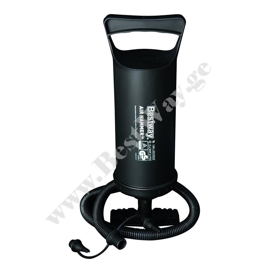 ხელის მოხმარების ჰაერის ტუმბო  BestWay 62003  Air Hammer - Inflation Pump