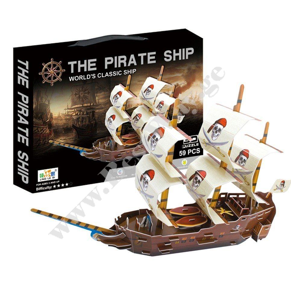3D PUZZLE Pirate Ship
